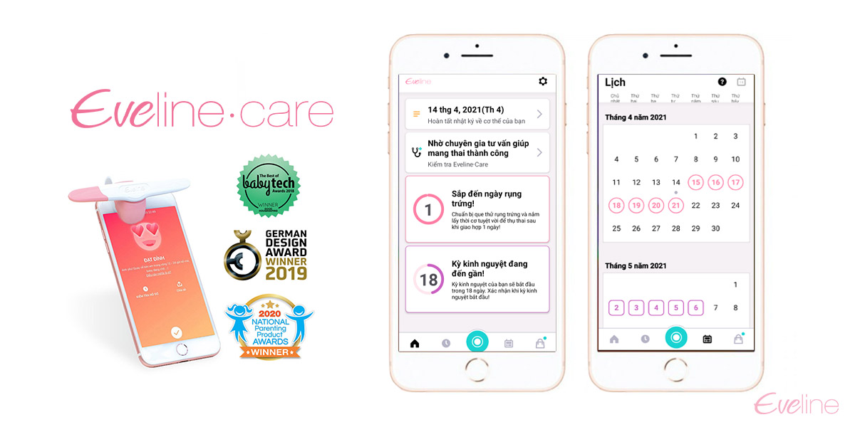 Ứng dụng tính ngày rụng trứng Eveline Care