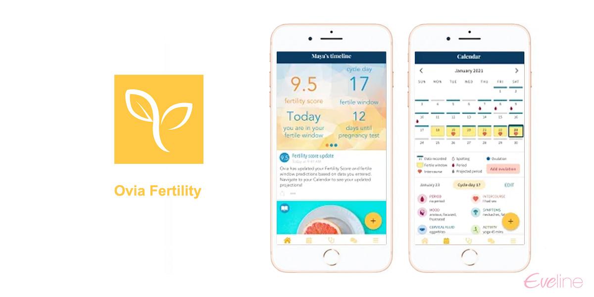 Ứng dụng tính ngày rụng trứng Ovia Fertility