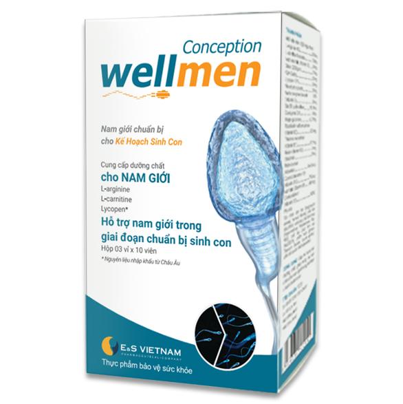 Wellmen bổ tinh trùng - Tăng số lượng và chất lượng tinh trùng